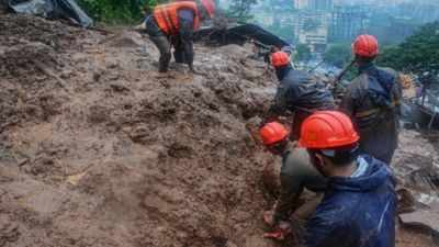 Raigad Landslide: Landslides and floods kill at least five in Raigad district after heavy rains | Pune News - Times of India