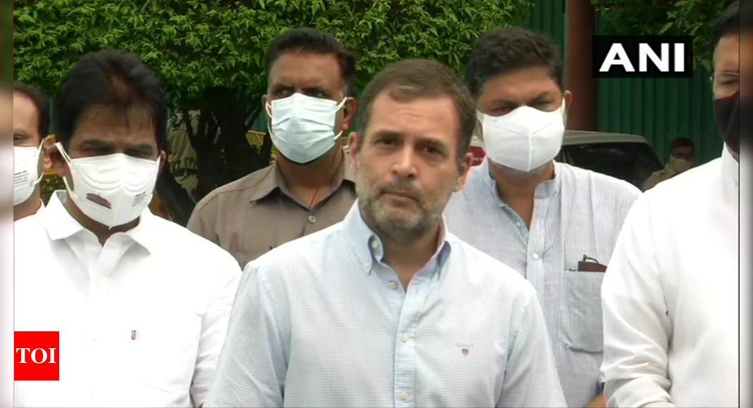 pegasus spyware:   It's treason, no other word for this: Rahul Gandhi on Pegasus project | India News – Times of India