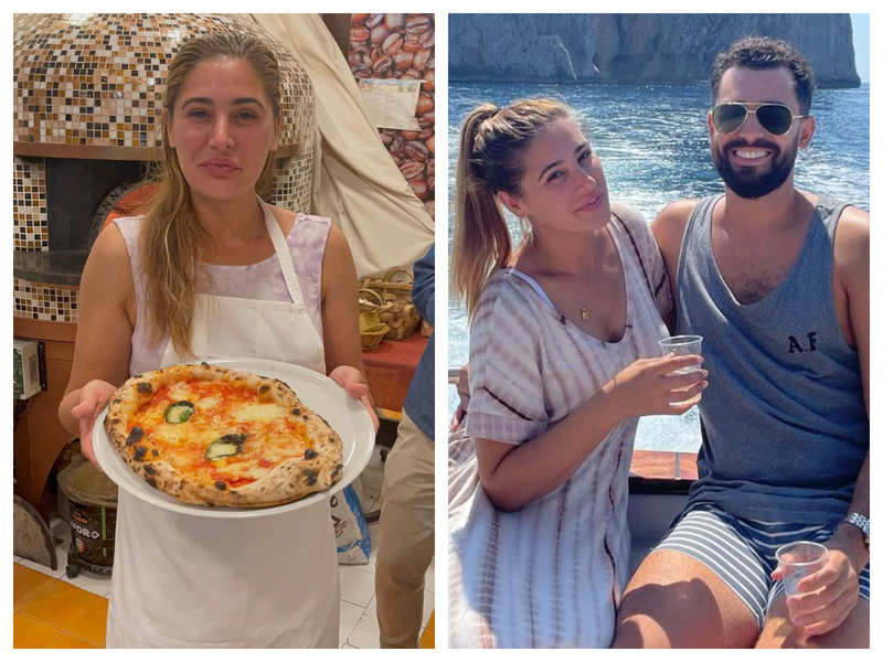 """Nargis Fakhri flaunts her 'double chin' as she vacations with boyfriend Justin Santos in Italy, Ileana D'Cruz calls her """"beautiful human"""""""