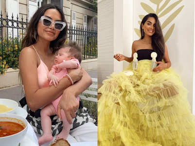 Indian influencer models outfit with breastpump