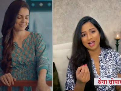Singer Shreya back on TV post maternity break