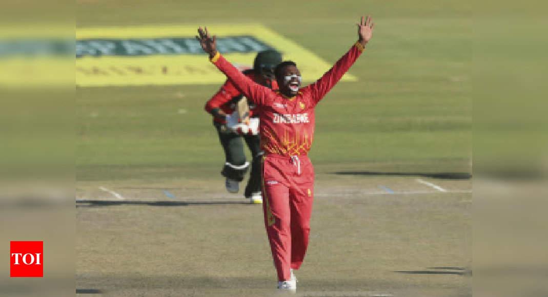 Zimbabwe beat Bangladesh by 23 runs to level T20 series | Cricket News – Times of India