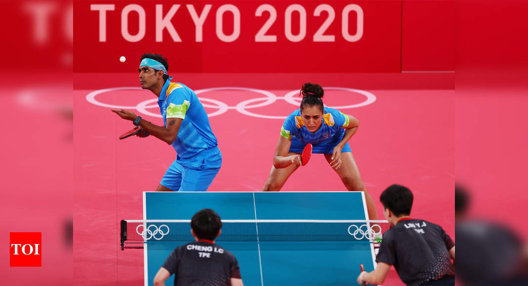 Tokyo Olympics: Sharath Kamal and Manika Batra outplayed in mixed doubles opener | Tokyo Olympics News – Times of India