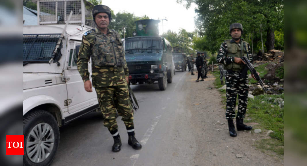J&K: Two terrorists killed in Bandipora encounter | India News – Times of India