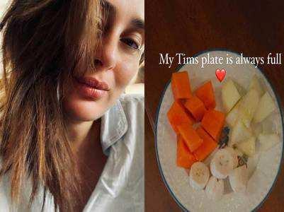 Kareena shares a pic of Taimur's breakfast
