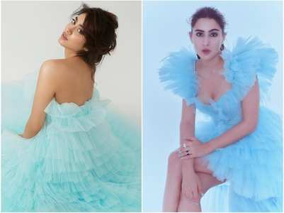 Janhvi or Sara : Who rocked blue gown better?