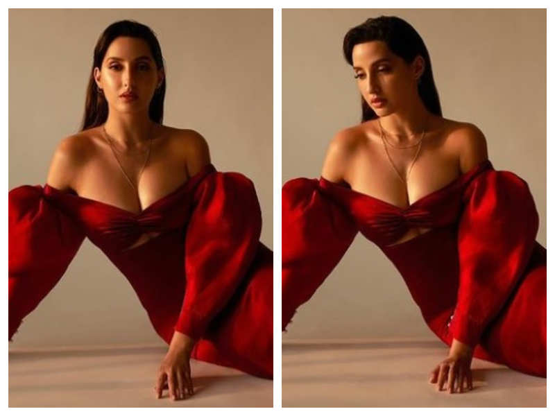 Nora Fatehi looks fetching as she amps up the heat on Instagram with her ravishing red attire