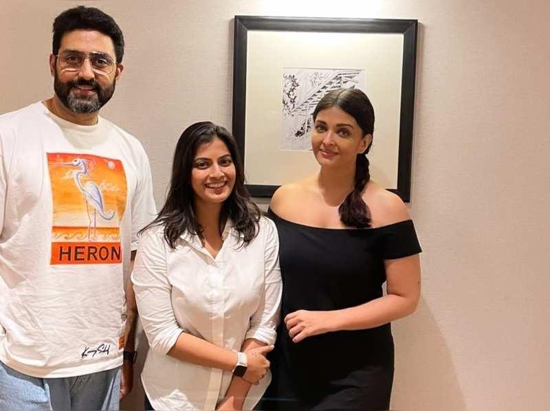 Varalaxmi meets Abhishek and Aishwarya Rai Bachchan