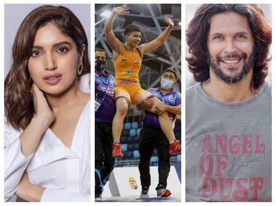 Bhumi mistakes Priya Malik's win for olympics