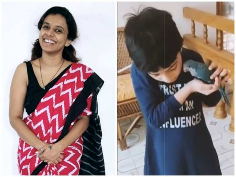 Super 4 judge Sithara Krishnakumar gifts a Blue Monk Parakeet to daughter Saiu, pens a note on animal love