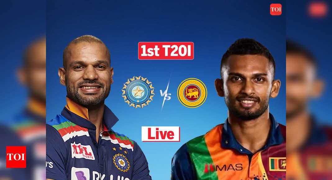 Live Cricket Score, India vs Sri Lanka 1st T20I: Dhawan, Suryakumar take India to 164/5  – The Times of India : 19.7 : India : 164/5