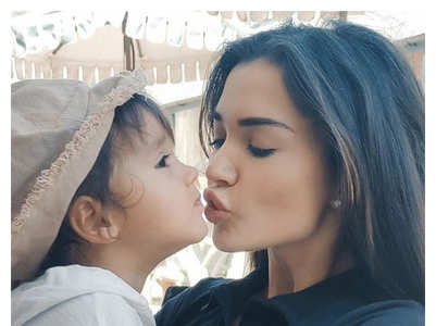 Adorable pictures of Amy Jackson and her son