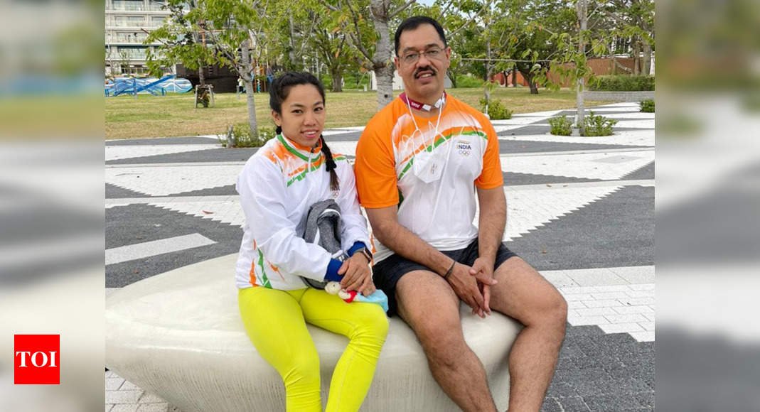 Olympic medallist Mirabai Chanu, coach Vijay Sharma thank government for sustained support | Tokyo Olympics News – Times of India