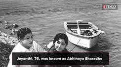 Kannada cinema loses its Abhinaya Sharadhe - Jayanthi