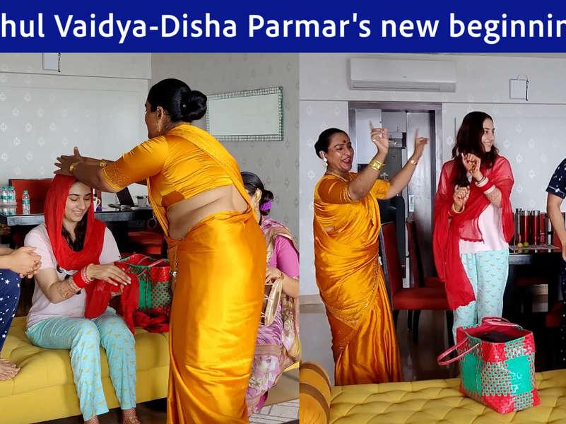 Newlyweds Rahul Vaidya and Disha Parmar seek blessings from the Kinnar community