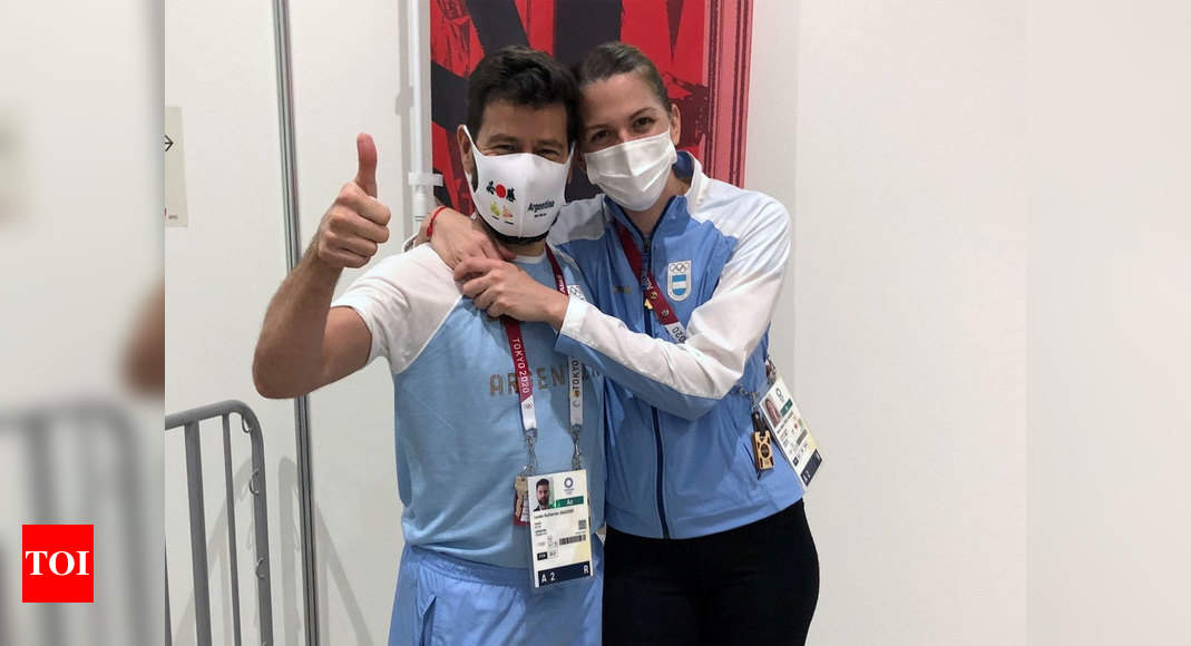 Watch: Argentine fencer accepts marriage proposal in front of TV cameras | Tokyo Olympics News – Times of India -India News Cart