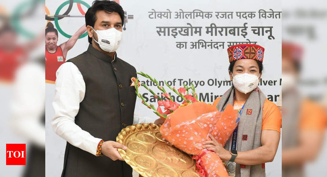 Mirabai Chanu created history, entire nation is proud of her: Sports Minister Anurag Thakur | Tokyo Olympics News – Times of India -India News Cart