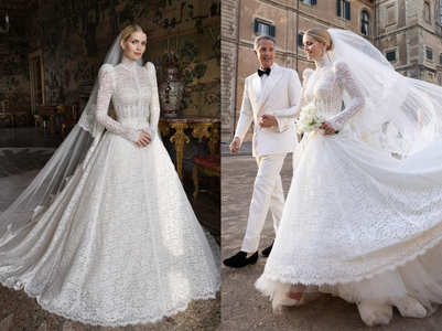 Diana's niece wore a Victorian gown