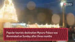 The illumination of Mysuru palace resumes after three months