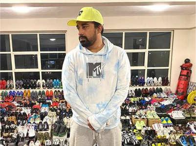 Rannvijay's massive sneaker collection