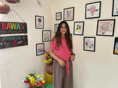 Niti sets up 'cute' wall outside her home