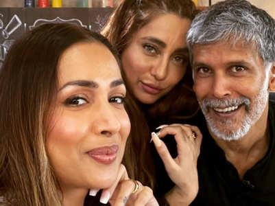 Milind, Anusha, Malaika click a selfie