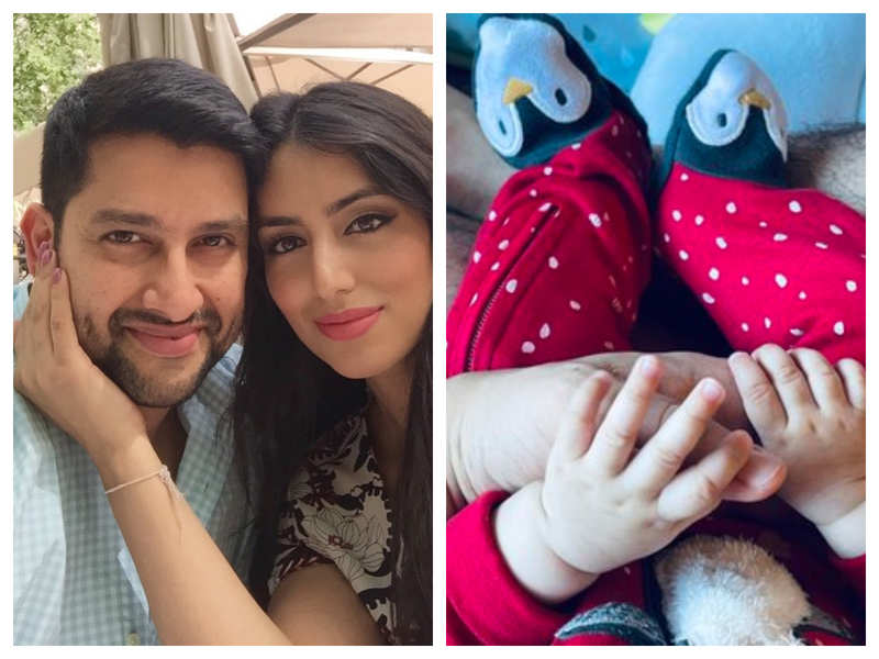 Aftab Shivdasani and wife Nin Dusanj celebrate the first birthday of their daughter Nevaeh: Thank you for choosing us as your parents