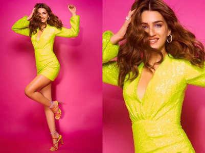 Kriti Sanon's party ready in this neon dress