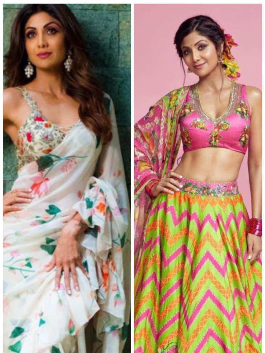 Shilpa Shetty's floral wardrobe