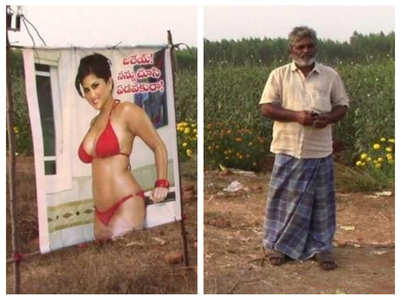 When Sunny Leone's poster was used in a farm