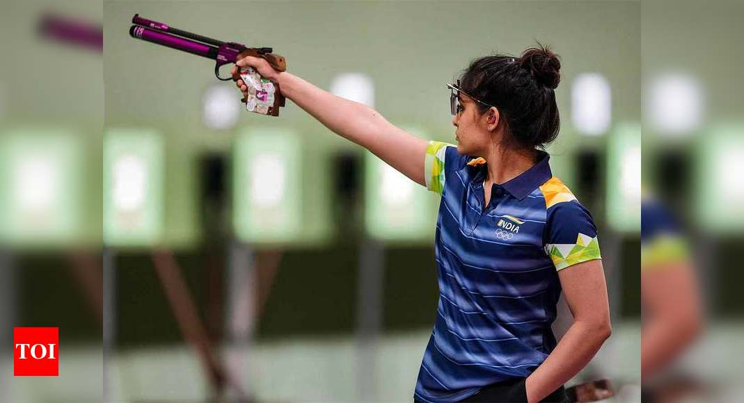 Tokyo Olympics 2020: Manu Bhaker, Rahi Sarnobat placed 5th, 25th respectively in 25m pistol qualifications | Tokyo Olympics News – Times of India