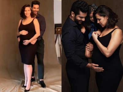 BTS from Neha Dhupia's maternity shoot