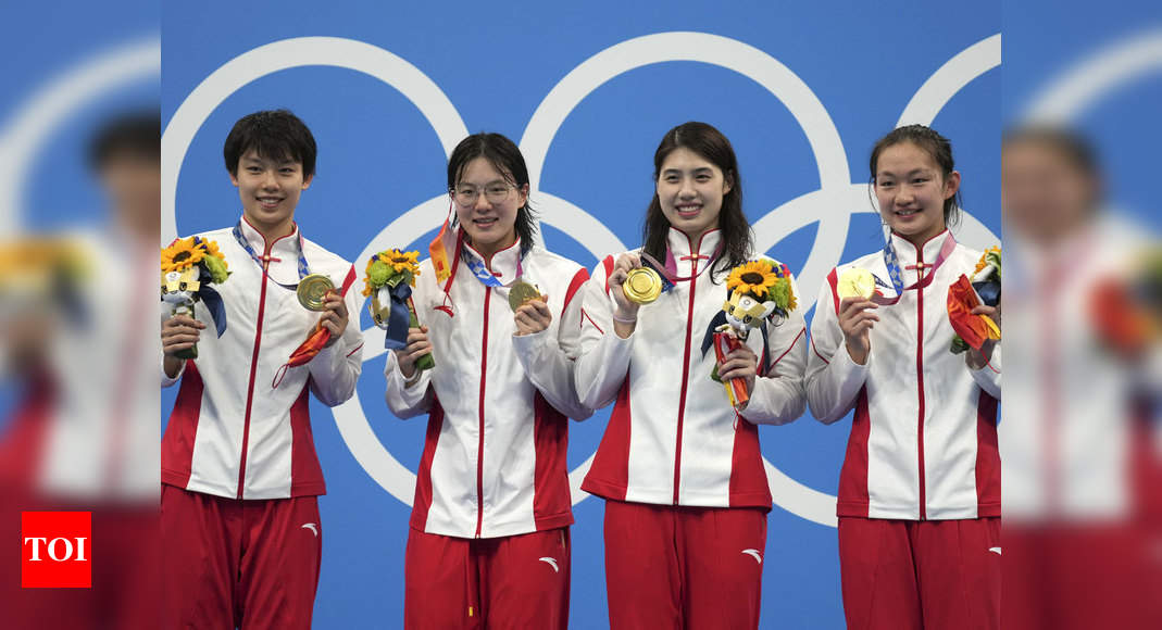 Tokyo Olympics 2020: China win women's 4x200m freestyle relay in world record time | Tokyo Olympics News – Times of India
