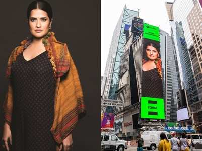 Sona on her Times Square Billboard debut
