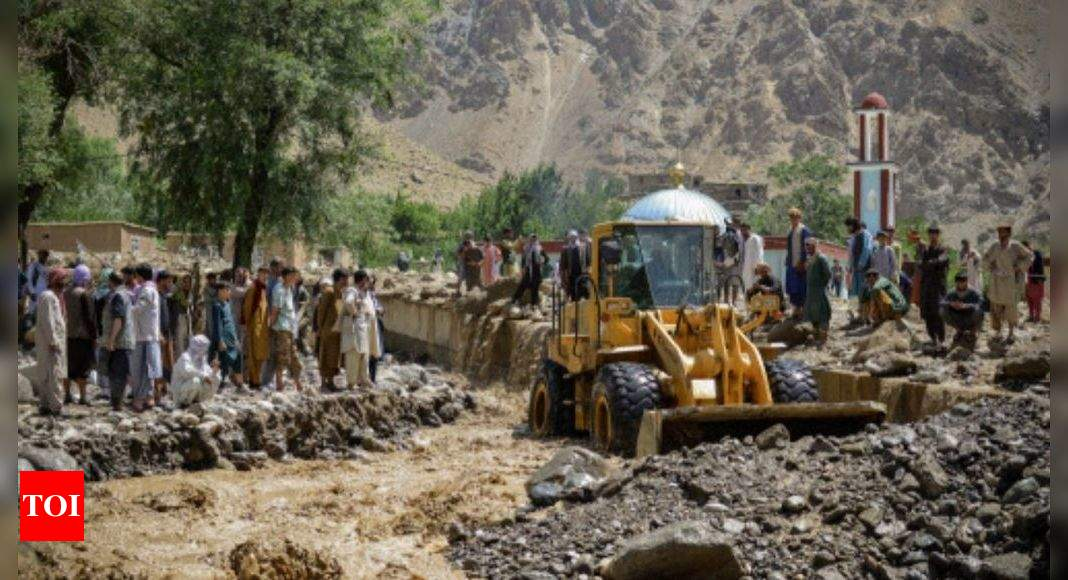 Afghan villagers search for survivors as flash flood kills at least 40 – Times of India