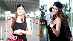 KKK11's Nikki Tamboli leaves fans stunned with her classy and elegant all-black airport attire