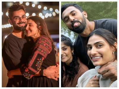 Anushka-Athiya turn photogs for Virat-Rahul