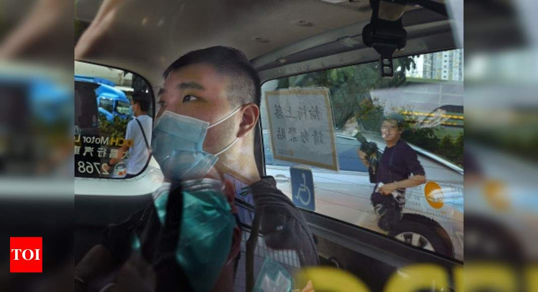 Hong Kong protester given 9-year term in 1st security case