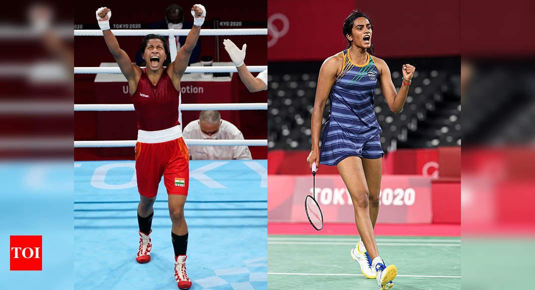 Tokyo Olympics: Lovlina Borgohain guarantees India's second Olympic medal; PV Sindhu enters semis | Tokyo Olympics News – Times of India