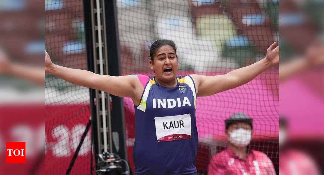 Kamalpreet Kaur discus throw: Kamalpreet Kaur finishes second in discus qualification to make finals | Tokyo Olympics News – Times of India