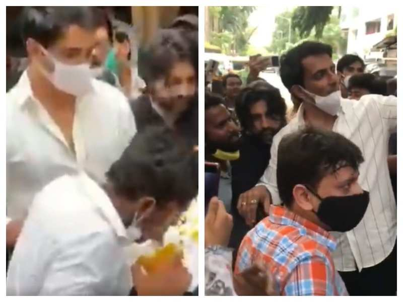 Sonu Sood is 'humbled' as people gather outside his house to celebrate his birthday; fan makes a painting of the actor with his tongue