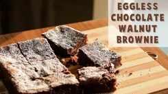 Watch: How to make Eggless Chocolate Brownie