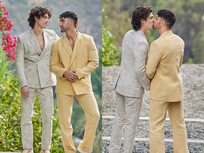 Gay couple wore the most stylish suits for their wedding