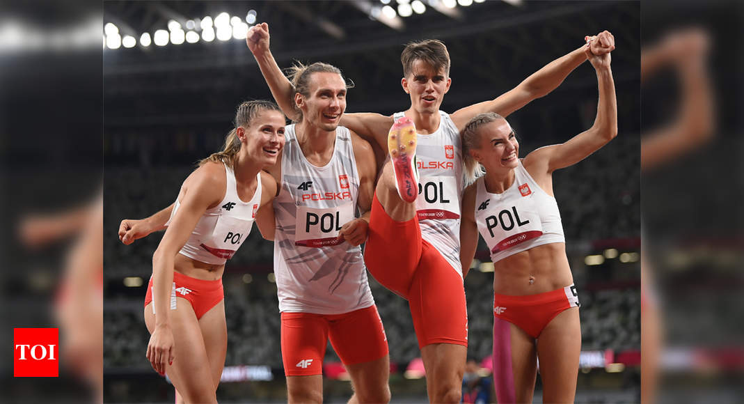 Tokyo Olympics: Poland win first 4x400m mixed relay gold ...