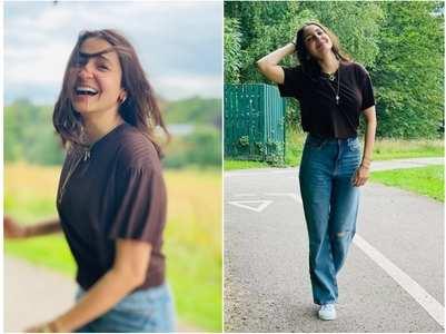Anushka's happy photos from London