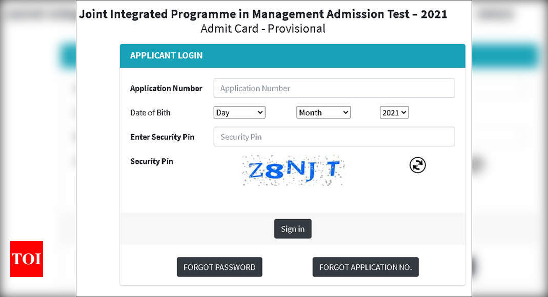 NTA JIPMAT 2021 Admit Card released, download here – Times of India