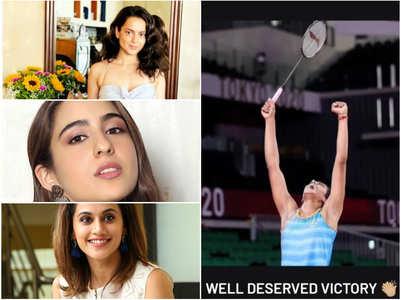 Kangana & other celebs congratulate PV Sindhu