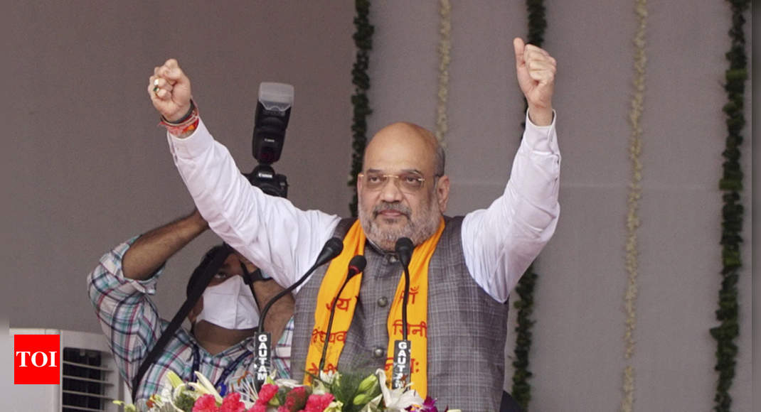 Amit Shah says UP on top in law and order situation, lauds CM Adityanath