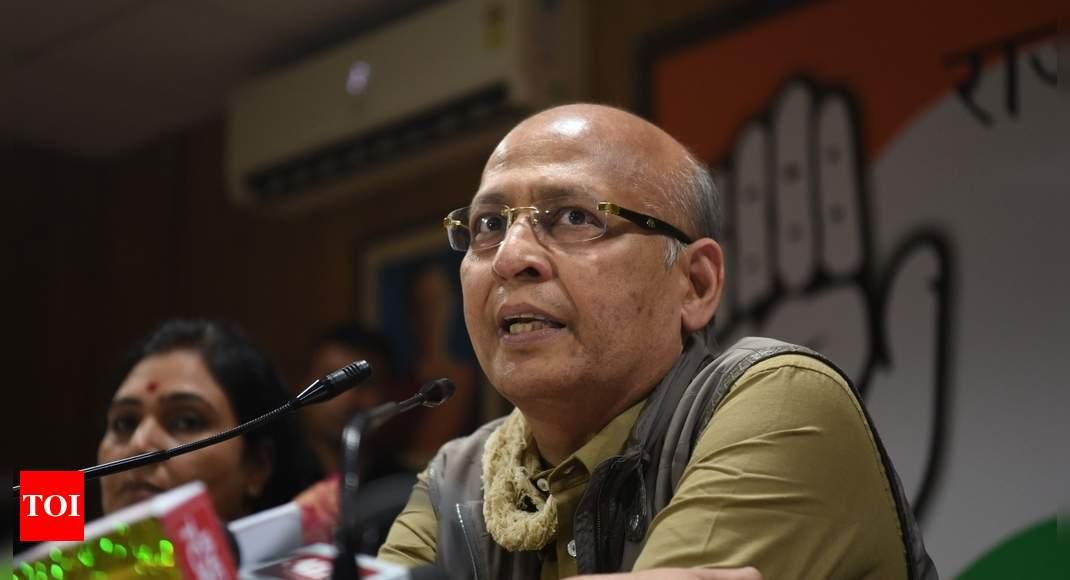 Opposition leadership issue must be put off till 2024: Singhvi