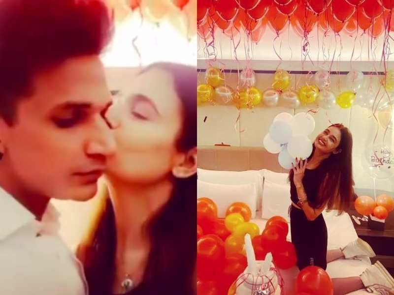 Yuvika Chaudhary is all kisses for husband Prince Narula on her birthday; gives a peek into the special celebrations at midnight